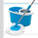 blue spin mop
