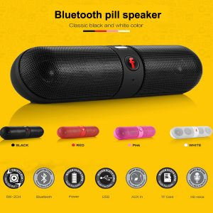 Bluetooth pill speaker