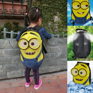 Waterproof Minion Backpack for School Kids