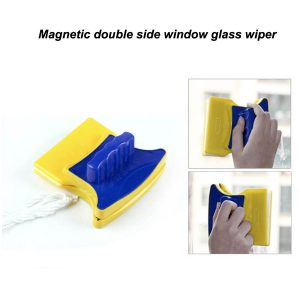Magnetic double side window glass wiper