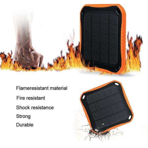 Square solar energy power bank