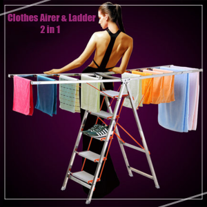 Clothes Airer & Ladder (2 in 1)