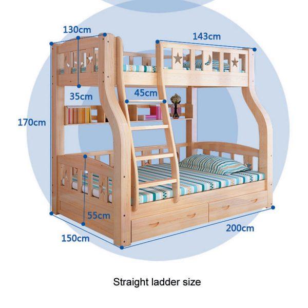 straight ladder bunk bed
