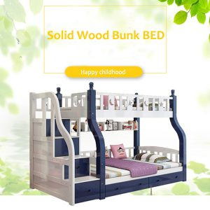 Bunk Bed with Ladder Cabinet