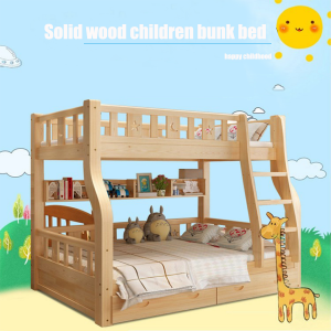 Bunk Bed with Straight Ladder