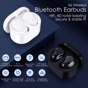 4D Noise Isolation Bluetooth Earbuds