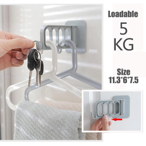 Seamless Plastic Wall Hook (Pack of 3)