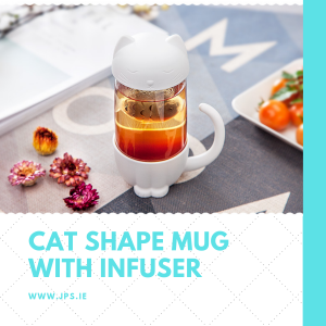 Cat Shape Creative Mug with Fish Shape Infuser