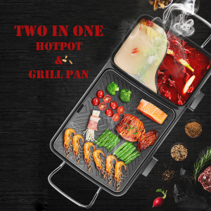 2 in 1 Hot Pot Grill Pan