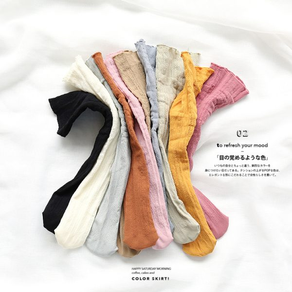 Japanese Style Eyelet Lace Socks