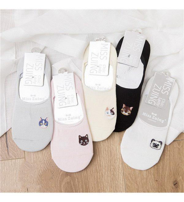 Women socks low cut no show socks no slip