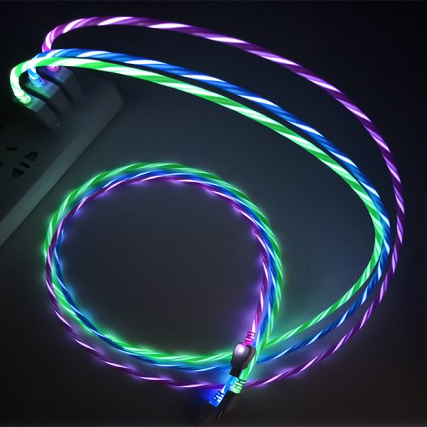 flowing light USB cable