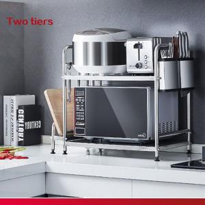 Standing Shelf Units 2-Tier Countertop Microwave Oven Shelf