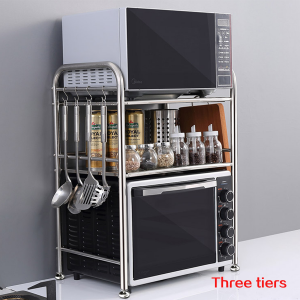 Standing Shelf Units 3-Tier Countertop Microwave Oven Shelf