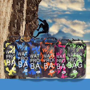 Waterproof Traveller Dry Bag 20L in Camouflage Colour