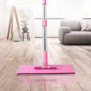 Wash & Dry Flat Mop & Bucket Cleaning System + FREE Additional Mop Head
