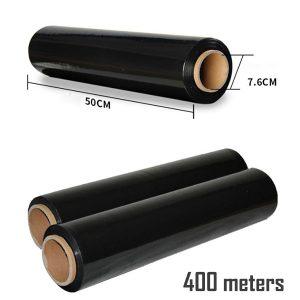 400 Meters Black Pallet Stretch Shrink Wrap