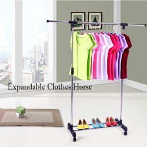 Expandable Clothes Horse Easy Assemble