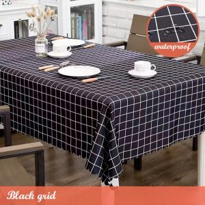 Large Wipe Clean PVC Waterproof Table Cloth