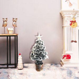 Snowy Christmas Tree Plastic 60cm/90cm