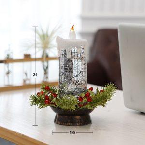 Christmas Candle Snow Globe LED Light