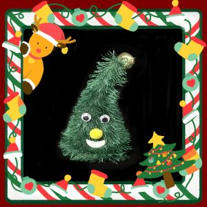 Dance Chirstmas tree and hat musical plush toy, best gifts for Chirstmas