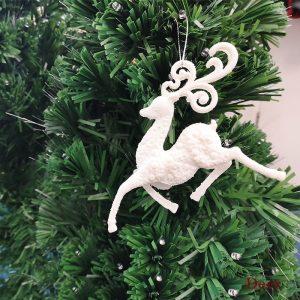 Deer Shape Glittering Ornament For Christmas Tree