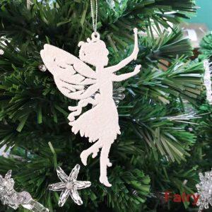 Fairy Shape Glittering Ornament For Christmas Tree (Pack of 3)