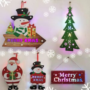 Christmas Door Sign LED in Multiple Styles