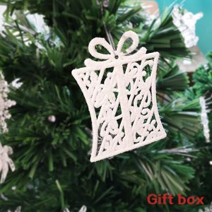 Gift Box Shape Glittering Ornament For Christmas Tree (Pack of 3)