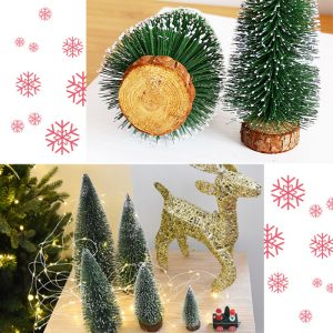 Christmas Bristle Tree Table Decoration – Green