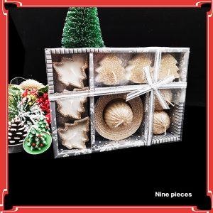 Christmas Glitter Candle Set