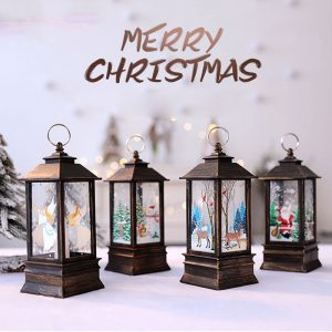 Christmas Table Decoration Glitter Snow LED Box