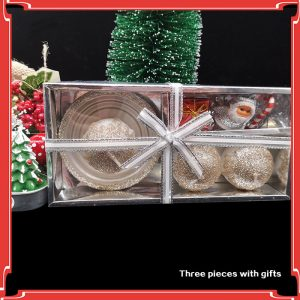 Christmas Glittering Candle Set with Fairy & Gift – 4 Pieces