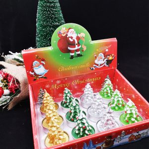 Christmas Candle Set Tree Shaped (12 in Each Box)