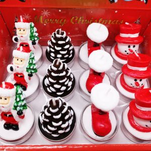 Christmas Style Mix Shaped Candle Set (12 in each box)