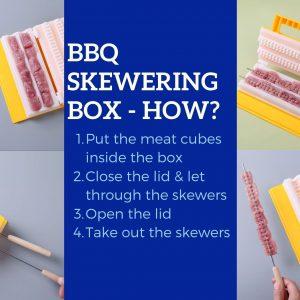 BBQ Skewering Tool Box Food Grade PP Plastic
