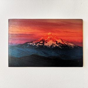 Fuji Mountain Wooden Decorative Painting