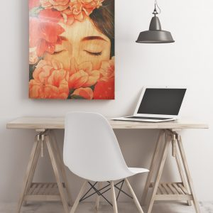 Flower Fairy Wooden Decorative Painting