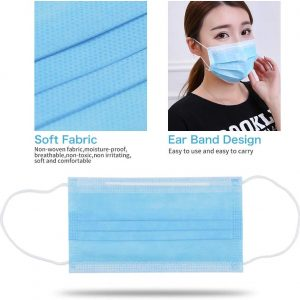 Medical Face Masks (10-Piece) 3-Ply Masks