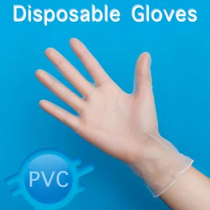 Clear Powder Free PVC Disposable Gloves Medium Size