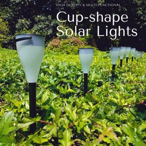 Cup-shape Solar Garden Lights Set of 6