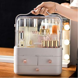 Waterproof & Dustproof Modern Cosmetic Storage Organizer with Handle