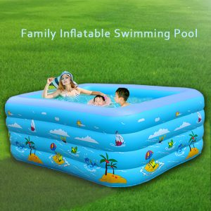 Family Inflatable Swimming Pool with Electric Air Pump