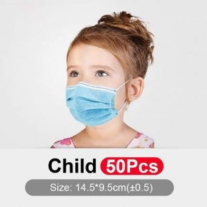 3 Ply High Quality Daily Protection Masks For Children 50pc