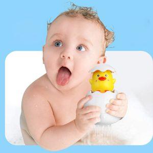 Children Bathing Eggshell Ducklings Bath Spray Duck