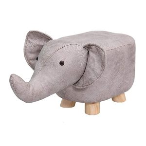 Footstool, kids learning stool, Solid Wood Animal Stool