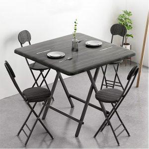 Metal Frame Folding Dinning Table