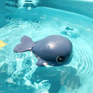 Whale Bath Toy for Toddlers, 2Pcs Cute Bath Swimming Wind Up Toys