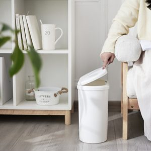 Slim Plastic Narrow Kitchen Garbage Can